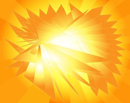 Abstract Sun. Bright yellow fractals. Digital illustration. Banco de Imagens - 563824