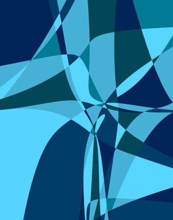 青の色合いのフラクタル。デジタル イラストです。複数のテクニック。