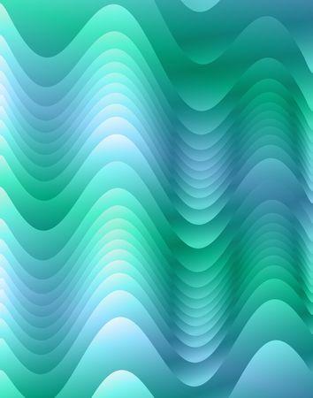 青青緑波状フラクタル。デジタル イラストです。複数のテクニック。 写真素材