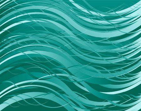抽象的な海は植物のフラクタルです。デジタル イラストです。複数の手法。