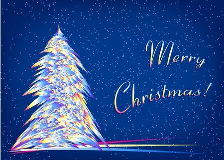 クリスマス ツリー。デジタル イラスト。フラクタル。複数の技術。 写真素材