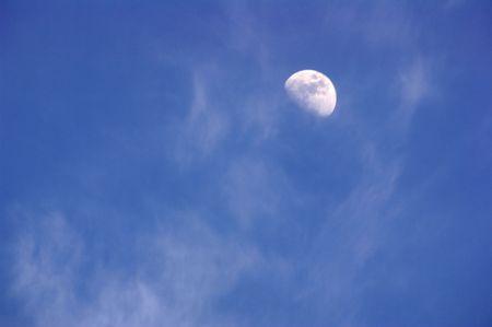 Blue sky bright moonlight