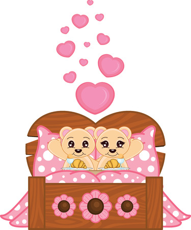 Valentine Bears Illustration