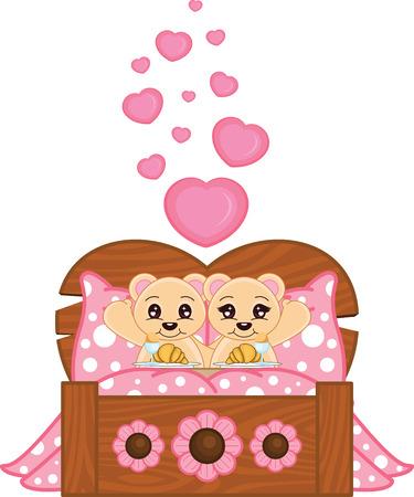 Valentine Bears Illustration