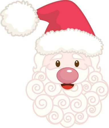 Santa Face Stock Vector - 10331064