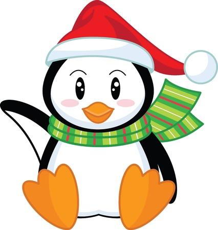 pinguinos navidenos: Ping�ino de vacaciones