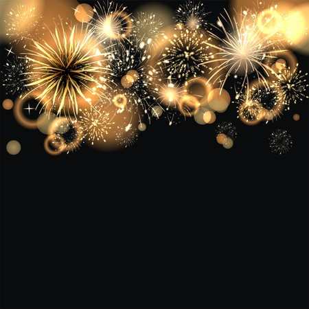 background with fireworks Stock Photo