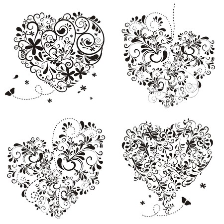 flower ornament: Hearts ornaments