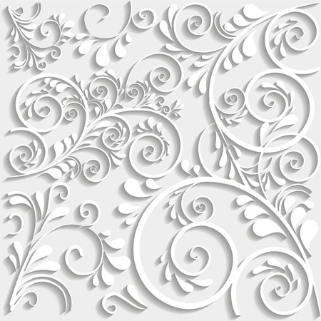 vector ornament: background with ornaments in 3d