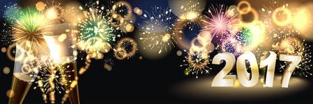 sylvester: background with golden firework