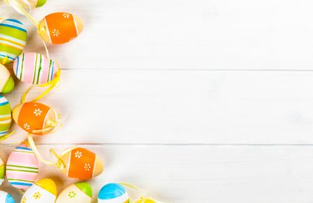 marco colorido de huevos de pascua Foto de archivo
