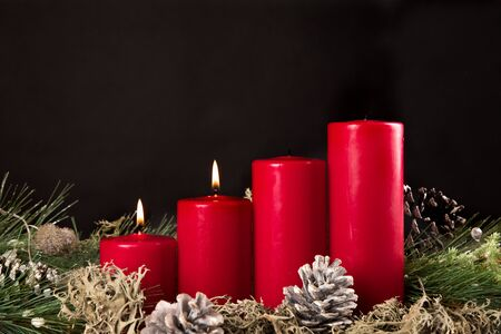 Advent candles for christmas