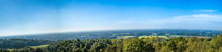 Panorama with trees and blue sky 스톡 콘텐츠
