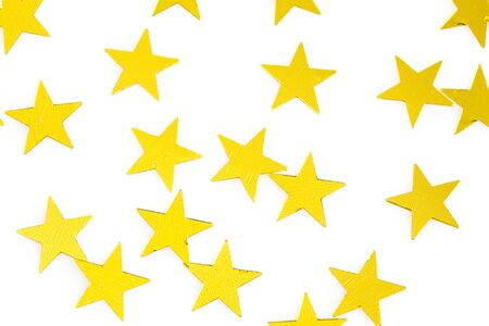 Stars isolated on white background 스톡 콘텐츠