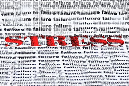tenseness: conceptual text depicting fear of failure Stock Photo