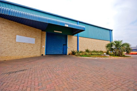 entrance and exterior of commercial warehouse Stock Photo - 4270528
