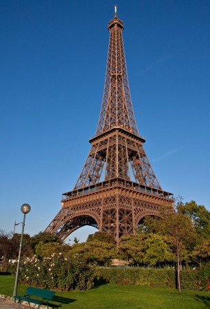 Eiffel Tower, symbol of Paris by day Stock Photo