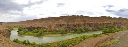 Charyn river in the canyon