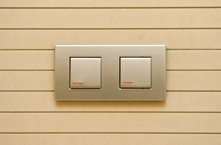 switch electrically on the wall Stock Photo