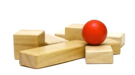 juguetes de madera: Juguetes de madera de color para la construcci�n