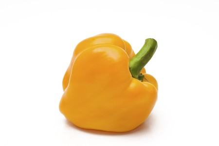 Ripe sweet pepper by the closeup photo
