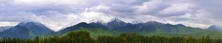 Peak of Almaty the symbol of the city