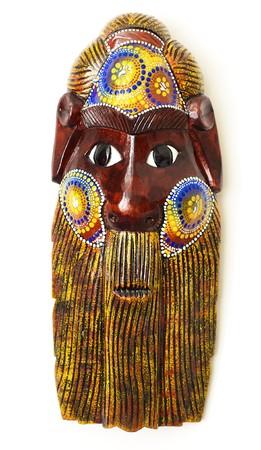 necromancy: Wooden mask of the Australian aborigine