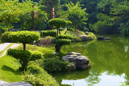 The Japanese garden in the Chinese park, Shenzhen photo