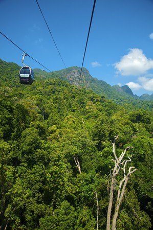Cable car station in Langkawi Island, Malaysia Stock Photo