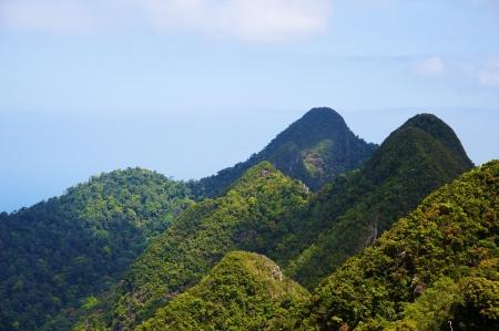 langkawi island: Rainforest hills, Langkawi Island, Malaysia