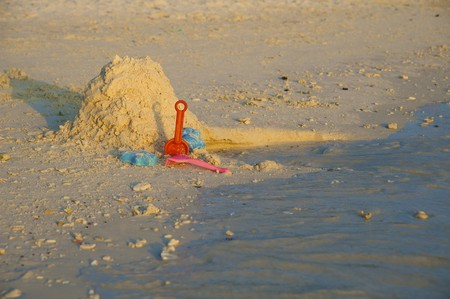Childrens toys for the game in the sand photo