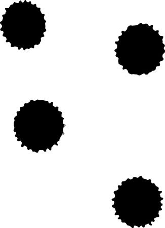 A serias, ink blots in black and white Stock Photo - 4764145