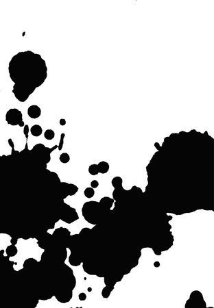 filthy: A serias, ink blots in black and white