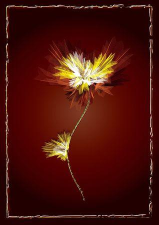 Red Floral- Illustration illustration