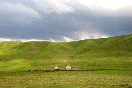 The Kazakh dwelling in mountains