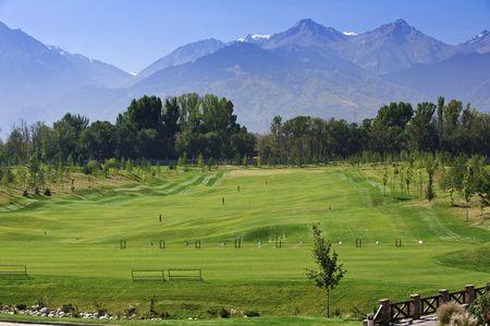 Morning a landscape a club golf photo
