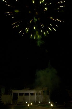 Fireworks in the night sky  photo