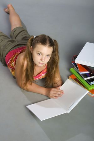 Young woman with of Books photo