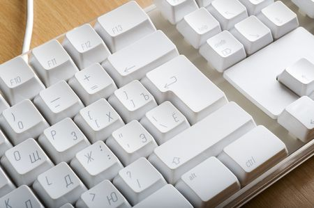 Modern plastic keyboards for computer photo