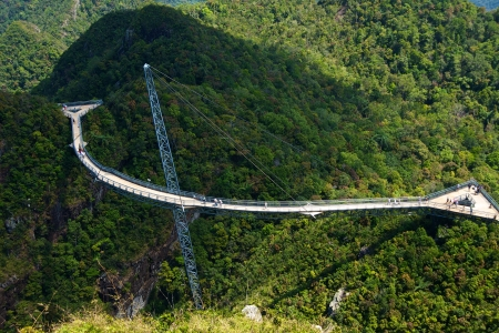The bridge is a viewing platform. View point. Langkawi island.  photo