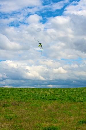 kite flying on cloud sky Stock Photo - 6997901