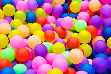 Color balls. bright colors background photo