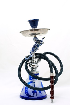 Hookah traditional Turkish on a white background photo