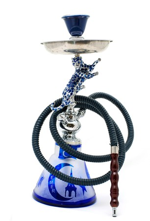Hookah traditional Turkish on a white background Stock Photo