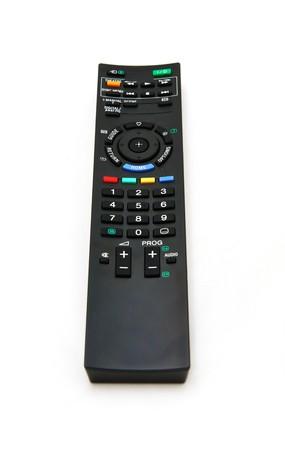 Black remote control for TV set photo