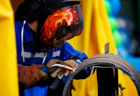 Welding pipe for a pipe stand photo