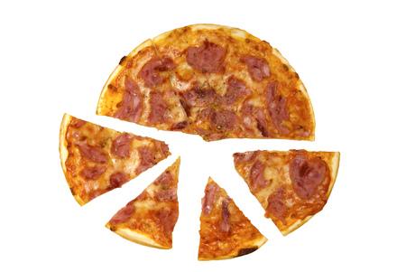 appetizing: Fresh, appetizing pizza proschiutto