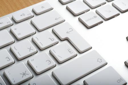 aluminum: Modern aluminum computer keyboards for computer Stock Photo