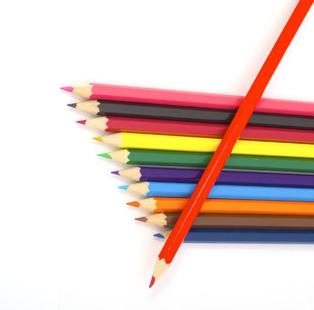 soft tip pen: Set colored pencils for the sketches