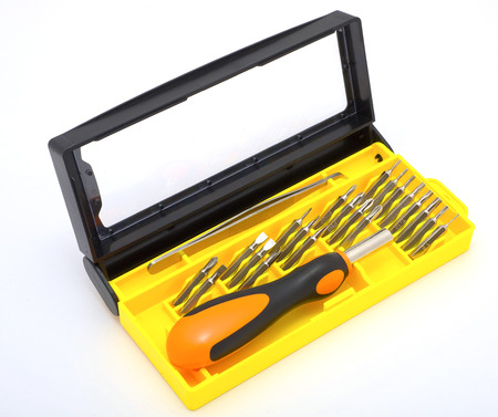 turnscrew: Tool kit from for the work Stock Photo